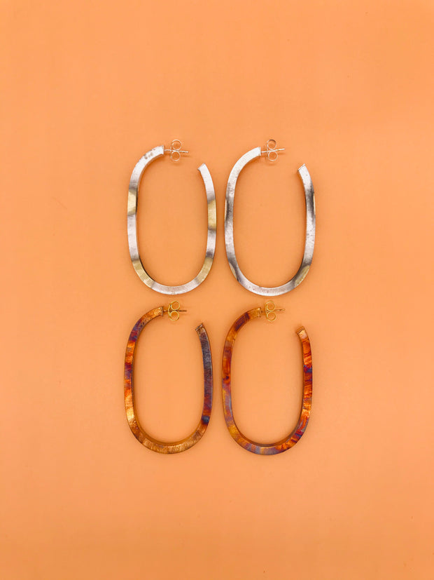SHEILA FAJIL - BURNISHED LALA HOOPS