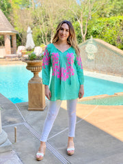 JUST LIKE PARADISE MINT TUNIC