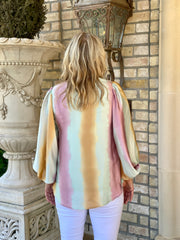 TURN OF EVENTS OMBREE BLOUSE