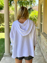 BREEZY VIBES  GAUZY TOP