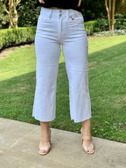 DREAM HIGH RISE WIDE LEG WHITE CROP JEAN