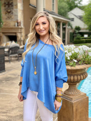 OH SO TRACIE:  BOATNECK SATIN BLOUSE