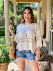 COASTAL TOWN SLOUCHY SWEATER