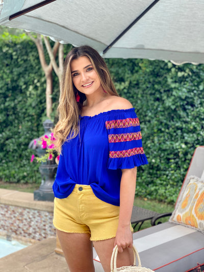 ONLINE EXCLUSIVE:  DREAM IN DETAIL OFF SHOULDER TOP