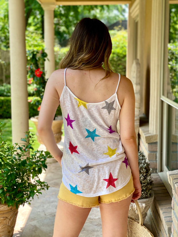 STARS ARE ALIGNED TIE FRONT TANK