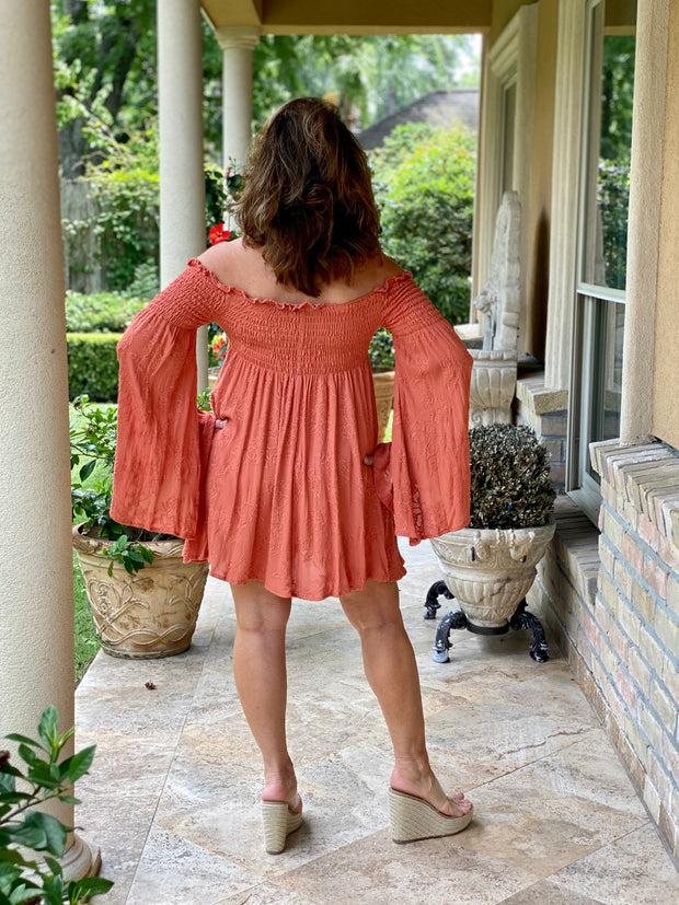 EVERYDAY GIRL APRICOT OFF SHOULDER TOP