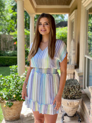 SWEETER THAN THE REST STRIPE DRESS