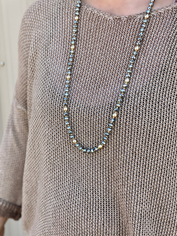 CHLOE SINGLE STAND BEADED NECKLACE