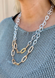 ANNIE DOUBLE STRAND CHAIN NECKLACE