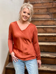 VENTI6: OCTOBER MORNING LONG SLEEVE TOP
