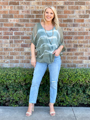 CLOUDBURST TIE DYE SILK BLOUSE