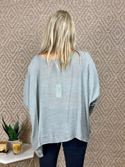 BRUN OVERSIZED BLOUSE - STEEL