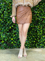 FREE PEOPLE: FAKE OUT SKIRT - WALNUT