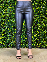 POWER HOUR FAUX LEATHER PANTS