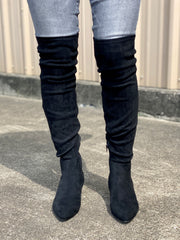 WYNTER OTK BLACK SUEDE BOOT