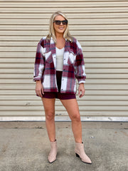 APPLE ORCHARD FLANNEL PLAID JACKET