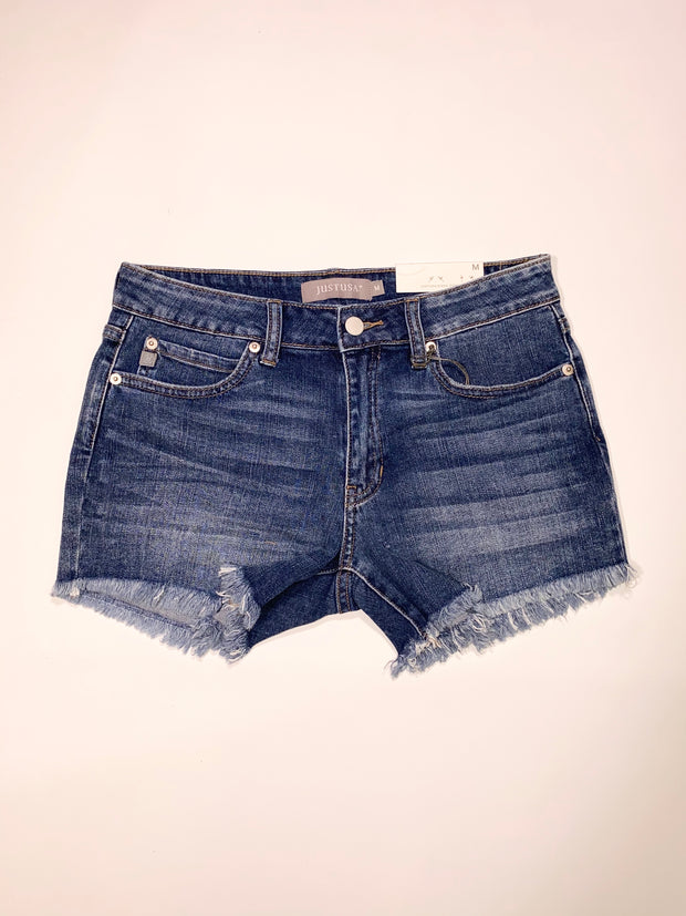 TRUE DENIM JUST USA SHORTS - DARK WASH