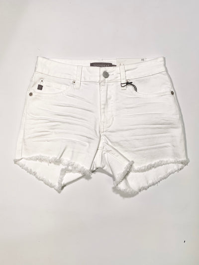 TRUE DENIM JUST USA SHORTS - WHITE