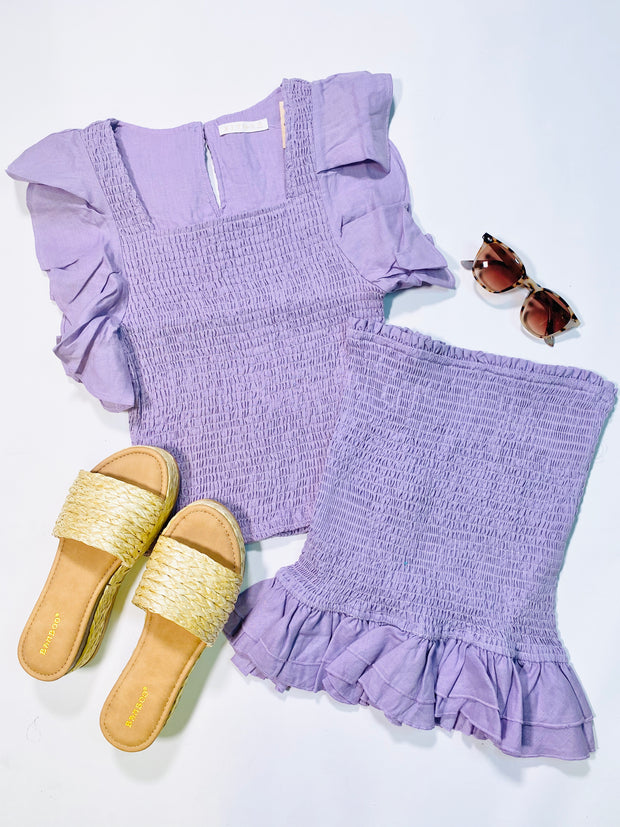 LOVE AT FIRST SIGHT LAVENDER SKIRT