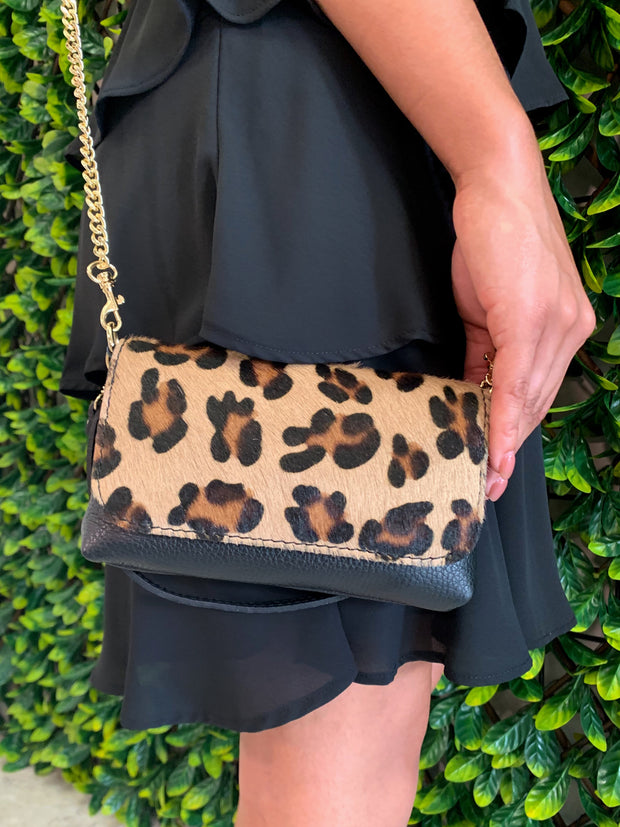 STELLA MINI CROSSBODY - LEOPARD