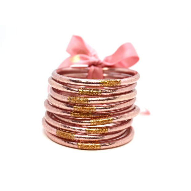 BUDHAGIRL ALL WEATHER BANGLES - ROSE GOLD (SET OF 9)