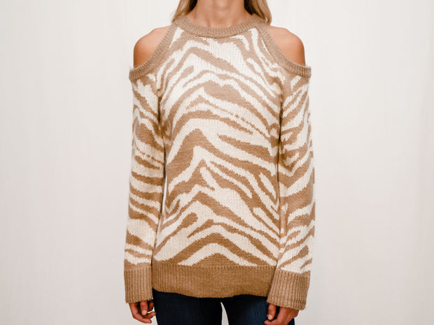 THE SHANNON COLD SHOULDER SWEATER