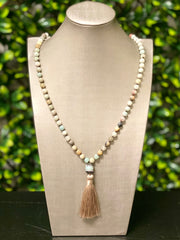 BIRDIE TASSLE NECKLACE