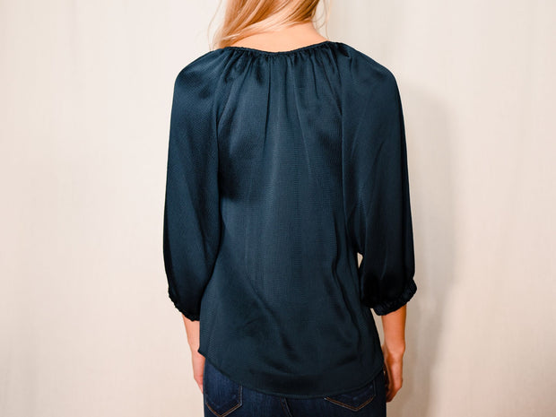TEAL ME ABOUT IT BLOUSE