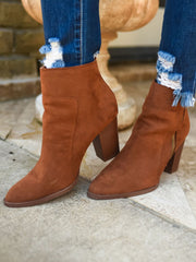 TIMBER DARK RUST SUEDE BOOTIE