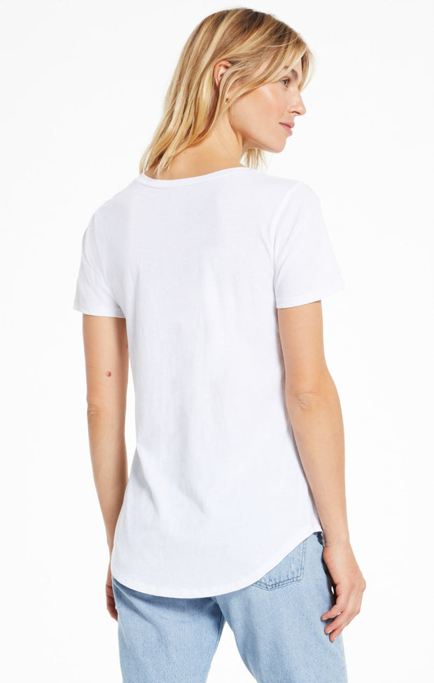 Z SUPPLY: POCKET TEE - WHITE