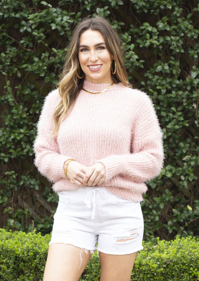 ONLY LOVE FUZZY KNIT SWEATER