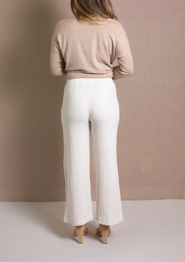 KHAKI SHADE GAUZE PANTS