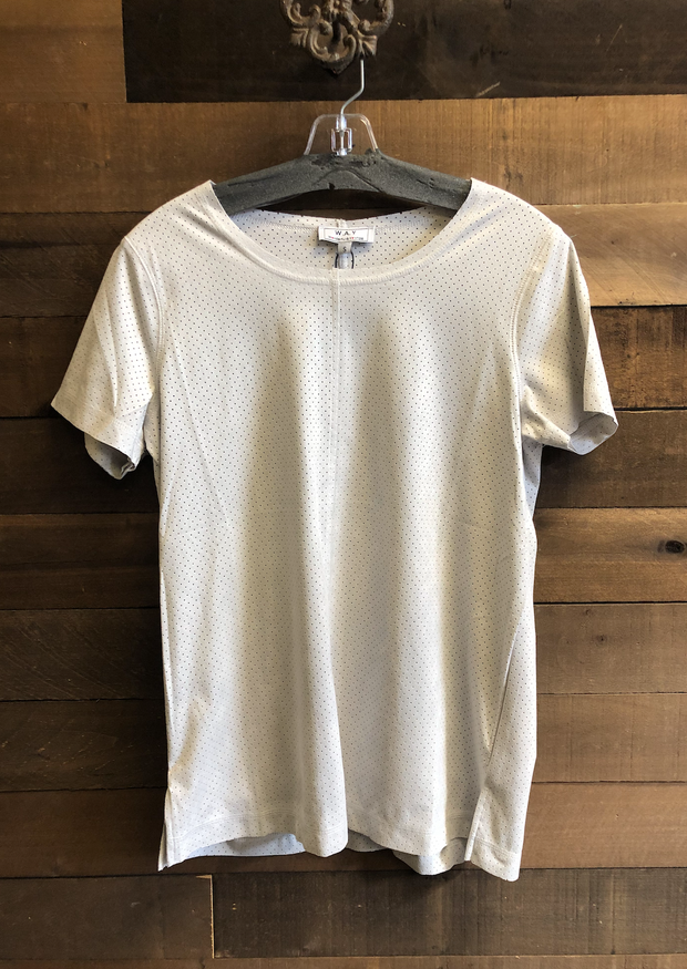 ANOTHER STORY ULTRASUEDE TEE