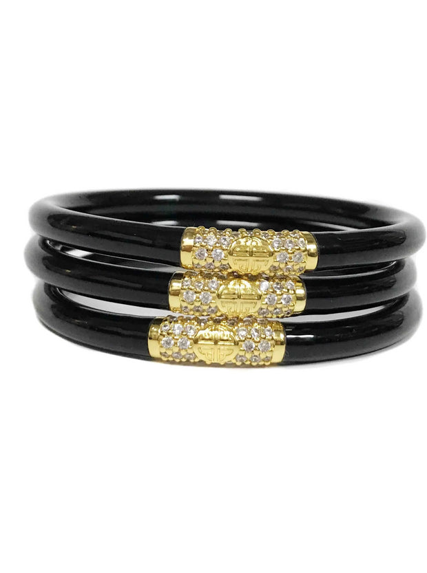 BUDHAGIRL ALL WEATHER BANGLES BANGLES - BLACK