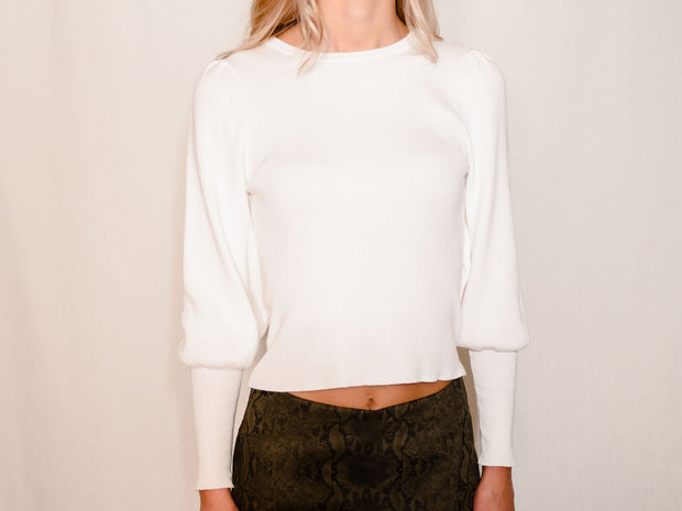 LA BLANC WHITE SWEATER TOP