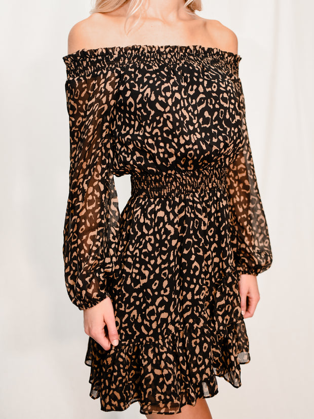 MUST BE FATE LEOPARD DRESS