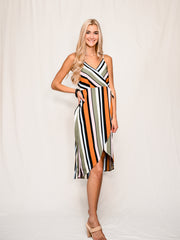 VIRGO VIXEN MIDI WRAP DRESS