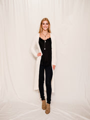 RELOADED BUTTON UP CARDIGAN - IVORY