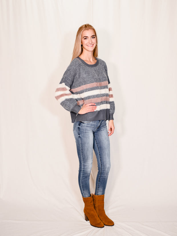 SWEET SPICE STRIPE SWEATER