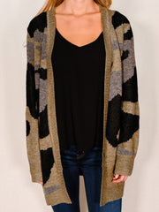 SUGAR COAT BOLD CAMO CARDIGAN
