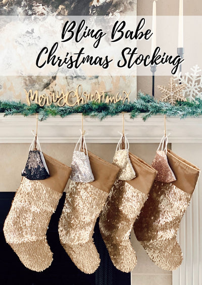 BLING BABE CHRISTMAS STOCKING