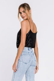 SPARKLE HOUR SEQUIN CAMI