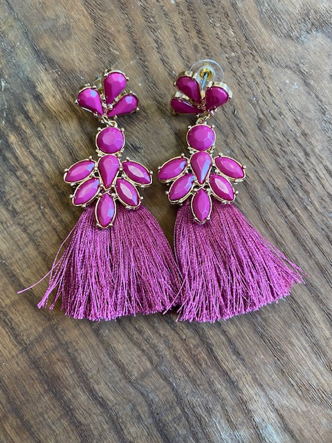 CELEBRATE TASSEL EARRINGS - ASSORTED COLORS