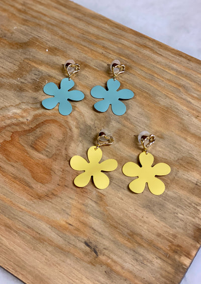 FLOWER POWER DANGLE EARRINGS