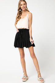 BLISSFUL BABE SKORT - BLACK