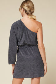 KISSES AT MIDNIGHT ONE SHOULDER DRESS
