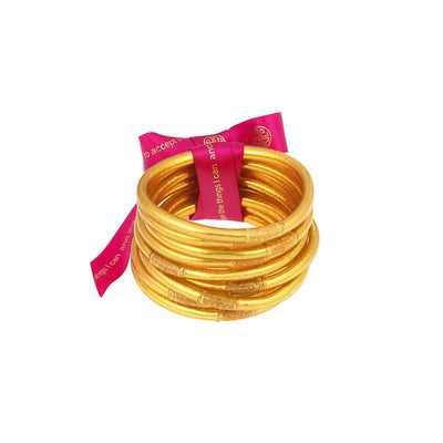 BUDHAGIRL ALL WEATHER BANGLES - GOLD (SET OF 9)