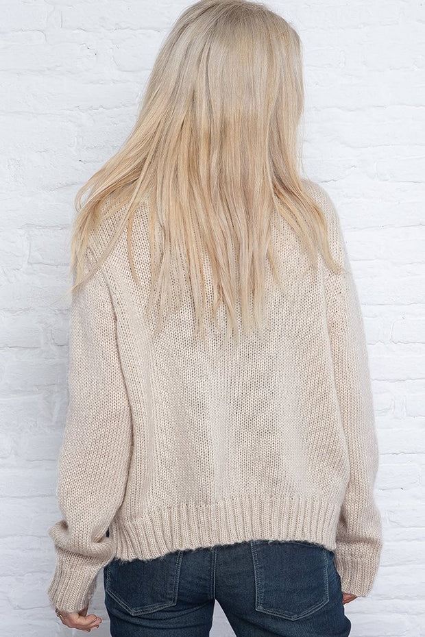 HEY PUMPKIN CHUNKY CREAM SWEATER