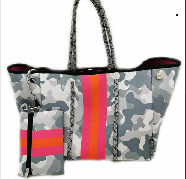 NEOPRENE CAMO BAG - GREY