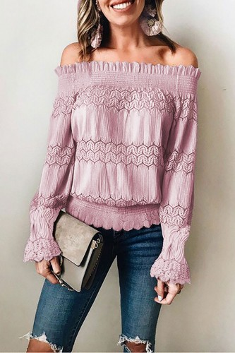 DUSTY PINKALICIOUS OFF SHOULDER BLOUSE